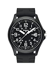 Traser Officer Pro Black PVD Steel Case Watch on Rubber Strap 100229