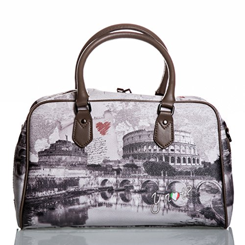Y NOT? - Borsa donna bauletto con tracolla g-337 new york walk in n.y. Roma Love Letter