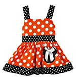 Wholesale Princess Orange & Black Sleeveless Minnie Mouse Halloween Costume