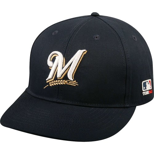 - OC Sports MLB-300 MLB Cotton Twill Baseball Cap - Milwaukee Brewers Home & Road Navy / 6 3/8