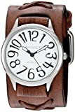 Nemesis Women's 'Always Summer Series' Quartz Stainless Steel and Leather Watch, Color:Brown (Model: DSFX108W)