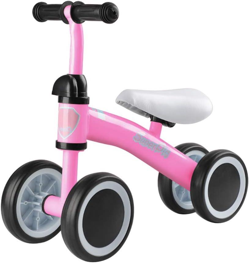 BESTEU Baby Balance Bike Triciclo para niños Bike No Foot Pedal Riding Toys Regalo para niños de 1-3 años