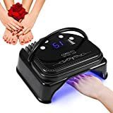 LED Nail Dryer, 60W LED Screen Quick Curing Professional Nail Lamp for Gel Polish, Smart Sensor Design with 4 Timer Setting 15s/30s/45s/60s