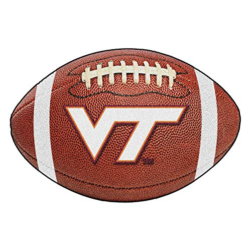 (FANMATS NCAA Virginia Tech Hokies Nylon Face Football Rug)
