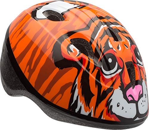 (Bell Zoomer Toddler Helmet, Orange Tiger)