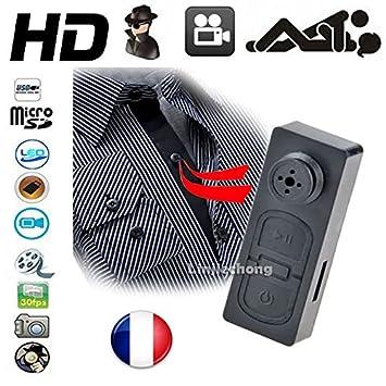 Botón cámara espía Max Audio Photo Video DVR GB Spy & # x2022; 1280 x