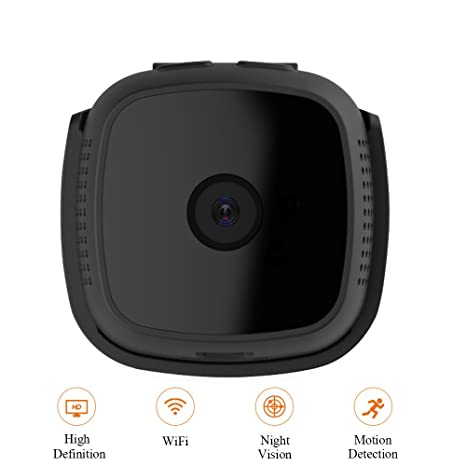 Mini cámara espía WiFi 1080P, cámara de Seguridad Oculta inalámbrico Exterior/Interior con visión