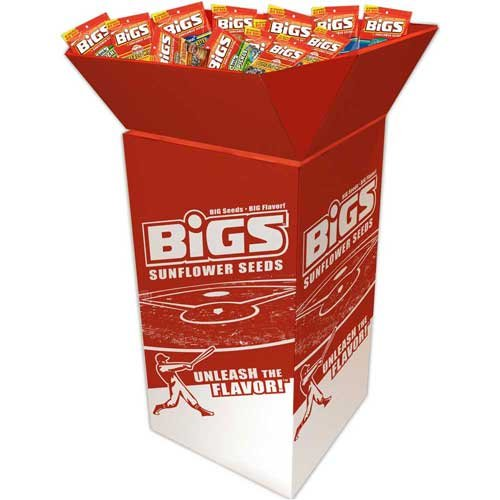 Bigs Assorted Sunflower Seeds Dump Bin, 5.35 Ounce -- 72 per case. by Thanasi