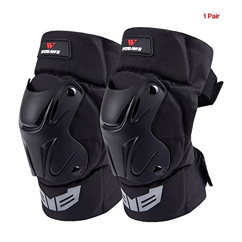 Lixada WOSAWE 1 Pair Cycling Knee Brace Bicycle MTB Bike Motorcycle Riding Knee Support Protective Pads Guards Outdoor Sports Cycling Knee Protector Gear by Lixada