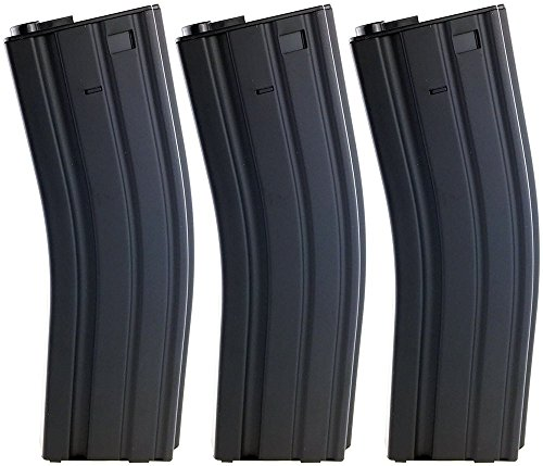 Airsoft Magazine Aeg - SportPro Jing Gong 450 Round Metal High Capacity Long Magazine for AEG M4 M16 3 Pack Airsoft - Black
