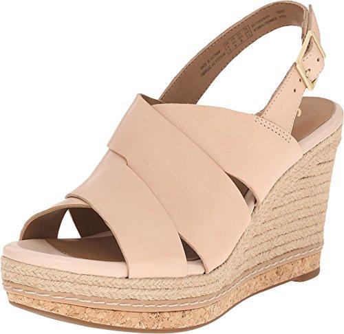 Clarks Women's Amelia Dally Nude Leather Sandal 10 B (M)