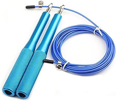 Boxeo Ejercicio Gimnasia Entrenamiento Saltar Ajustable ZSSM Cuerda de Saltar para Gimnasio para Gimnasio Crossfit de Acero Cable de Metal