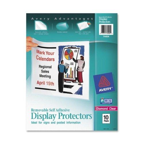 Avery 74404 Self Adhesive Sheet Protectors,Removable,10/PK,11