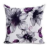 Flowers Pattern Pillow, Mapletop Car Home Decoration Pillow Case (Purple)