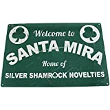 HALLOWEEN: WELCOME TO SANTA MIRA Metal Sign by Arcane Store