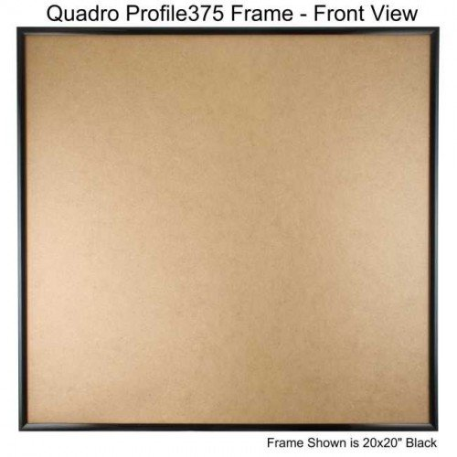 Quadro Frames 24x24 inch Picture Frame, Black, Style P375 - 3/8 inch Wide Molding by Quadro Frames