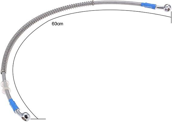 XZANTE 39cm Tubo Freno Olio per Moto Linea Banjo Raccordo in Acciaio Inossidabile Intrecciato