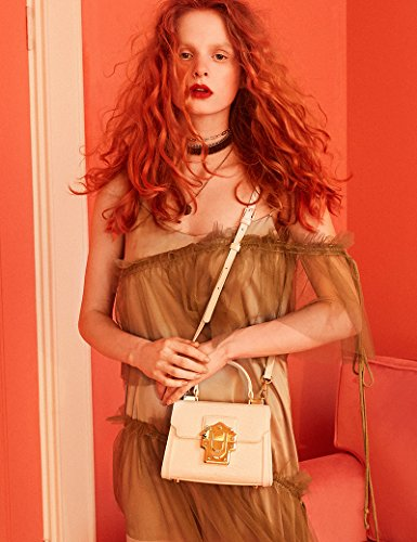 LA'FESTIN Ladies Crossbody Handbags Lizard Pattern Leather Shoulder Tote Purse Mini
