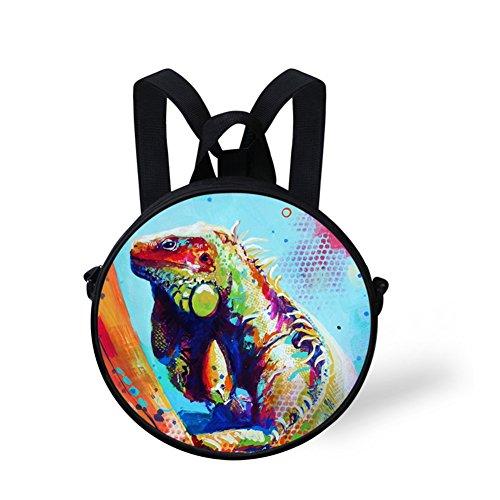 Round Nyec499i Round Print Bag Shoulder Bag Animals FancyPrint qwCaOE0