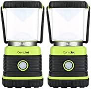 Consciot Ultra Bright LED Camping Lantern with 1000LM, D Battery Powered, 4 Light Modes, Dimmable Water-Resist