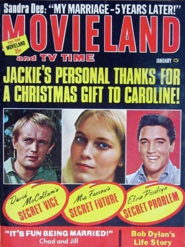 rare ELVIS PRESLEY MovieLand magazine: Elvis' Secret Problem(mint condition!). Inside we have: articles Elvis Presley with lots of candid photos, cast of LOST IN SPACE including June Lockhart, Cary (Lost Cast Photo)