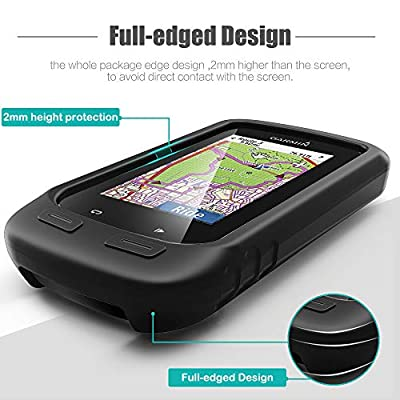 TUSITA Case for Garmin Edge Explore 1000, Approach G8 - Silicone Protective Cover - GPS Bike Computer Accessories (Black): Sports & Outdoors