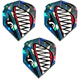 DART FLIGHTS 1 SET OF RUTHLESS WITH OUT SHOTS PRINTED ON THEM WHITE