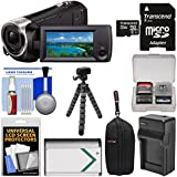 Sony Handycam HDR-CX405 1080p HD Video Camera Camcorder 32GB Card + Case + Battery & Charger + Flex Tripod + Kit