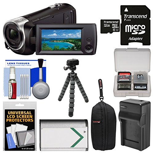 Sony Handycam HDR-CX405 1080p HD Video Camera Camcorder with 32GB Card + Case + Battery & Charger + Flex Tripod + Kit by Sony