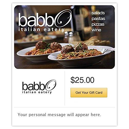 Babbo Italian Eatery Gift Cards - E-mail - Arrowhead Phoenix