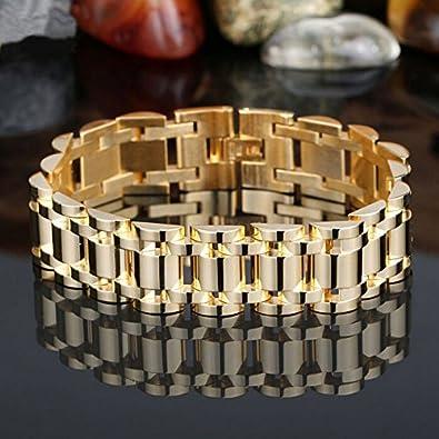 UK-S-DESIGN marca los hombres de lujo de la pulsera de oro de los ...