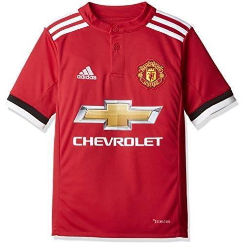 chollos oferta descuentos barato adidas MUFC H JSY Y Camiseta 1ª Equipación Manchester United 2017 2018 niños Rojo rojrea Blanco Negro 140
