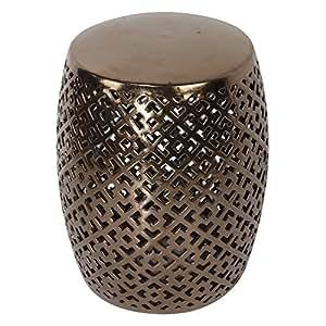 Decorativa de bronce cerámica jardín taburete