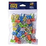 Officemate Happy Smiling Face Binder Clips, Small