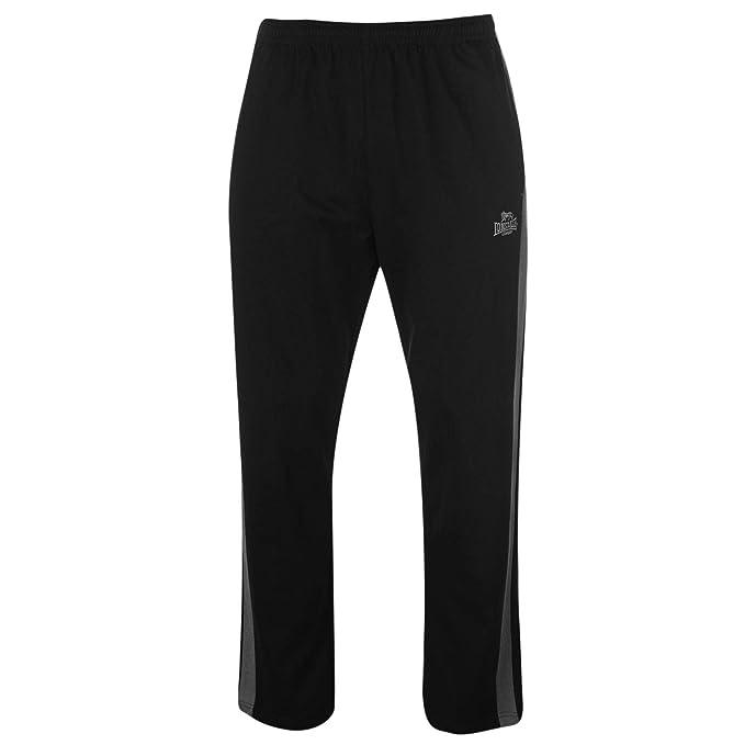Lonsdale - Pantalones de chándal para Hombre (algodón) Negro Negro ...