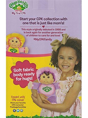 "Caucasian Girl Cabbage Patch Kids 11/"" Pink Retro Baby Blonde Hair Blue Eyes"