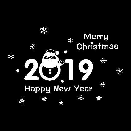 Christmas Santa Snowman Snowflake Vinyl Wall Window Sticker Decor
