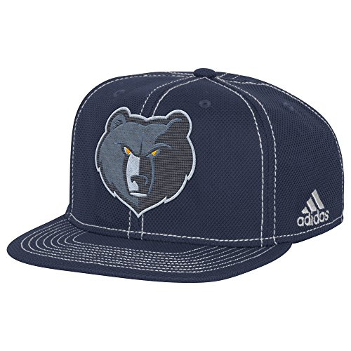 fan products of NBA Memphis Grizzlies Men's Lights out Flat Brim Snapback Cap, One Size, Fashion