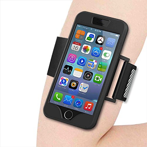 NOKEAiPhone 6S Armband, iPhone 6 Armbandwith Premium Flexible iPhone 6s/6 Case Combo Premium Sports Armband, Bundle with FREE iPhone 6S Tempered Glass Screen Protector (Black)