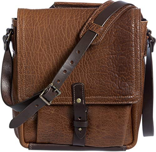 American Bison Leather Messenger Bag with Concealed Carry (Overland Sheepskin Messenger Bag)