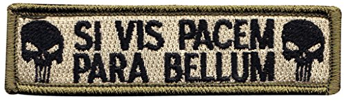 (If You Want Peace Prepare For War Pacem Bellum Latin Tactical Morale Hook+Loop Patch)