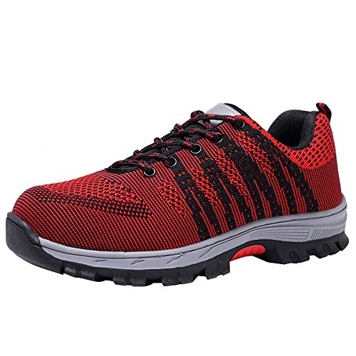Toe Shoes Black Shoes Steel Optimal Shoes Work Red Men's Safety x1qw7xUTYa