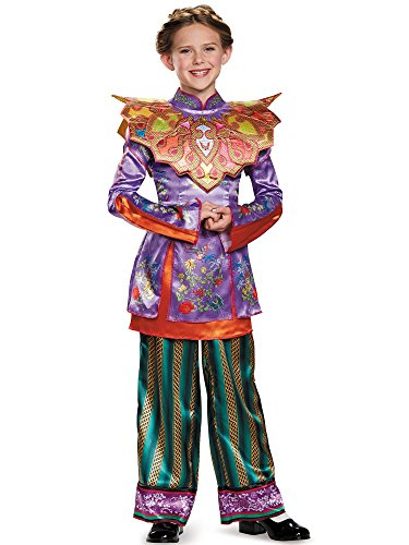 Disguise Alice Asian Look Deluxe Alice Through The Looking Glass Movie Disney Costume, Medium/7-8 (Alice In Wonderland Childrens Costumes)