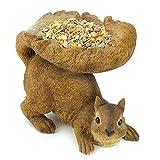Wall Mount Bird Feeder, Woodland Squirrel Small Pet Decorative Bird Seed Feeder