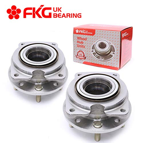 FKG 513044 Front Wheel Bearing Hub Assembly for 88-97 Oldsmobile Cutlass Supreme, 88-96 Pontiac Grand Prix, 90-01 Chevy Lumina, 95-99 Chevy Monte Carlo, 88-96 Buick Regal, 5 Lugs Set of - Car 99 98 97 Lumina