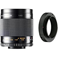 500mm f/8.0 Manual Focus Telephoto Mirror Lens For Canon EOS Rebel T6, T6s, T6i, SL1, T5, T5i, T4i, T3, T3i, T3i, 70D, 60D, 60Da, 50D, 40D, 30D, 20D, 10D, 1D, 5D, 5DS, 5DS R, 6D, 7D Digital SLR Camera
