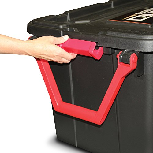 Scent Crusher Hard Tote to Scent Crusher Tote with Ozone Generator, Destroys Odors within 30 mins., Heavy Duty 40 Gal. Tote, Great for Permanent Storage or Traveling, Padlock Compatible by Scent Crusher (Image #4)
