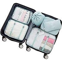 Adwaita 6 Set Packing Cubes, Travel Luggage Packing Organizers (Blue)