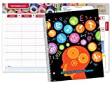 "Dated Middle School or High School Student Planner for Academic Year 2017-2018 (Matrix Style - 8.5""x11"")"