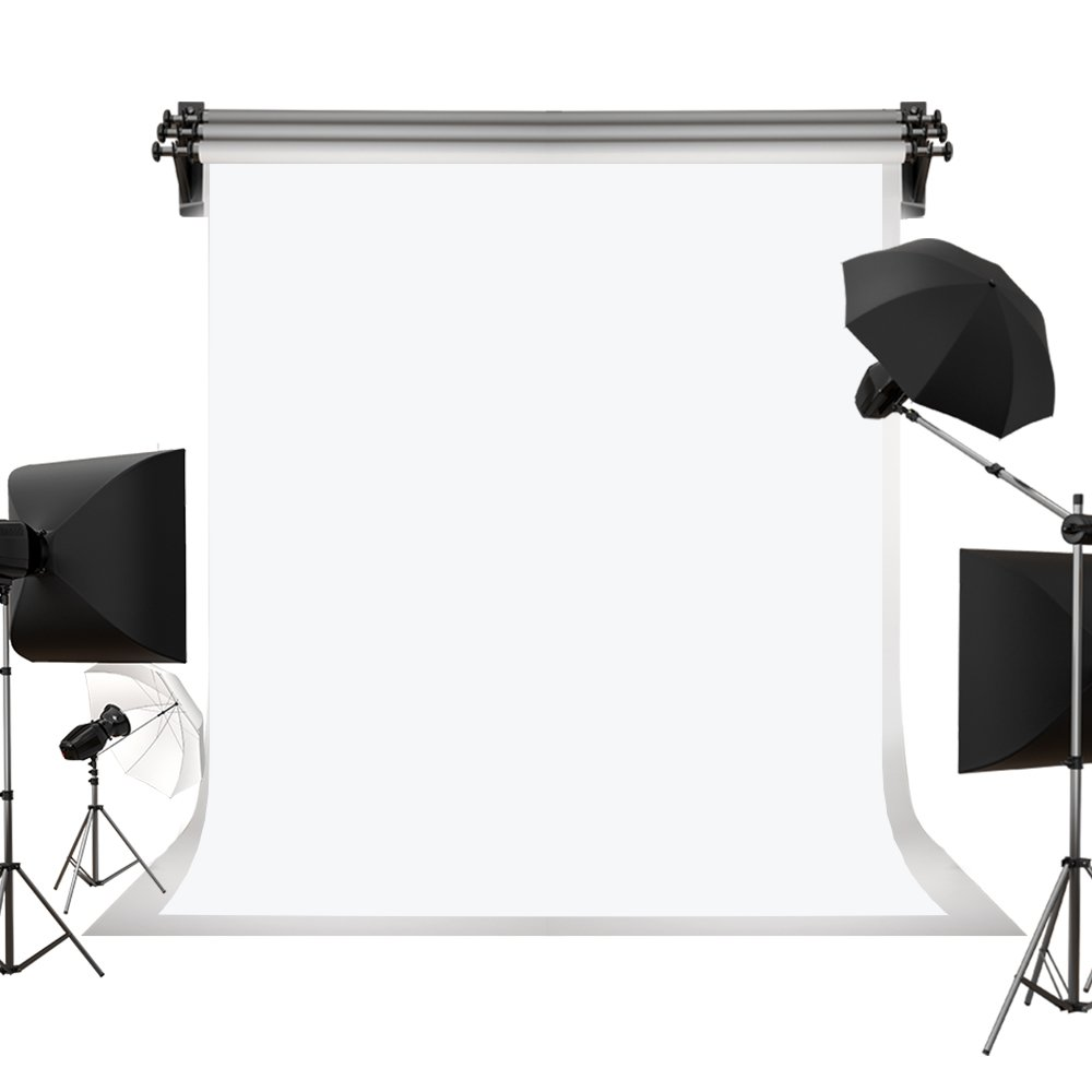Kate 10x10ft / 3x3m White Cloth Backdrop Photo Background Solid White Backdrop Fabric Pure Backdrop Cloth Photography Props Printed Backdrops for Photographers Photo Backdrop by Kate